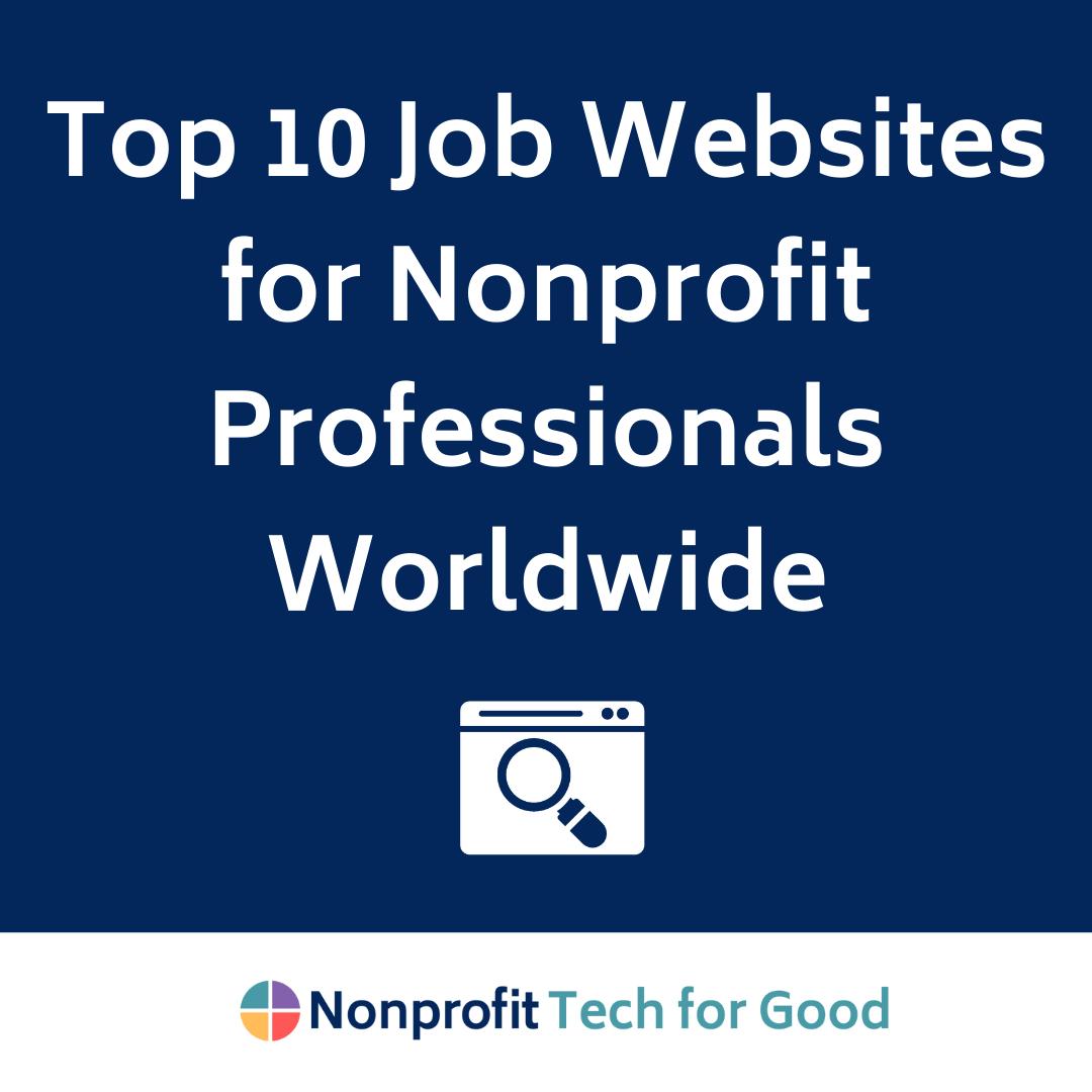 Top 10 Job Websites for Nonprofit Professionals Worldwide