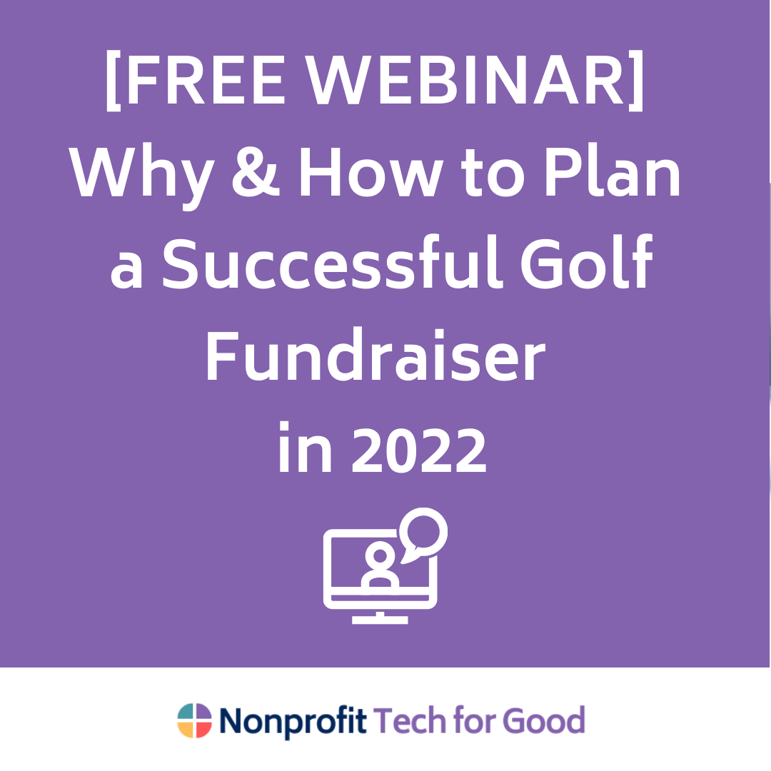 [FREE WEBINAR] Why & How to Plan a Successful Golf Fundraiser in 2022