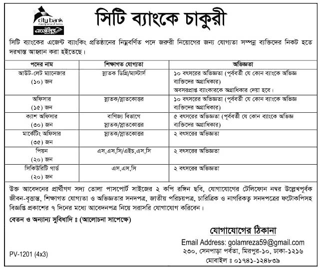 City Bank Limited Job Circular 2020