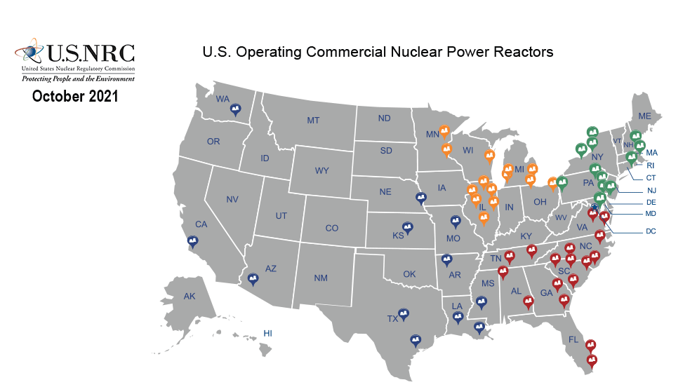 U.S. Commercial Nuclear Power Reactors - Years of Operation