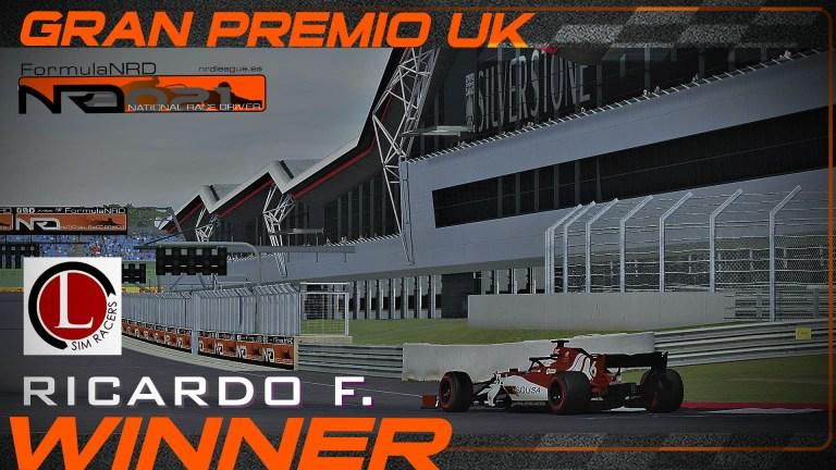 Ricardo F. vence en Silverstone y apunta al liderato.