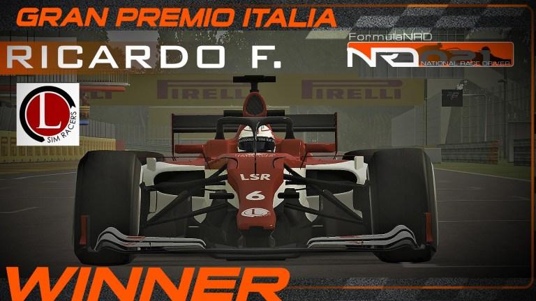 Ricardo se impone a Josetri en Monza en el final más apretado de NRD.