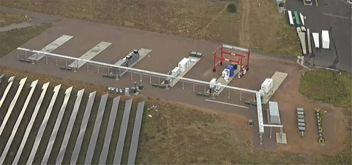 Photo of the new substation at NREL's Flatirons Campus that is part of the new ARIES research platform.