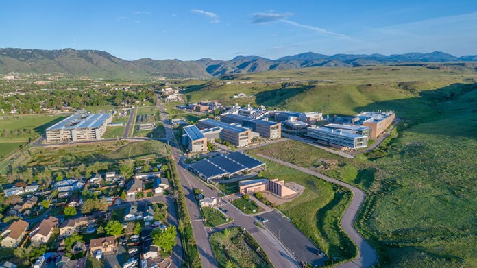 Aerial photo of the NREL Campus at South Table Mountain