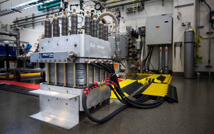 Electrolyzer in NREL's Energy Systems Integration Facility.