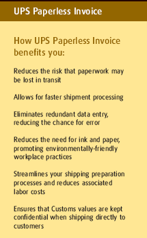 UPS Paperless Invoice