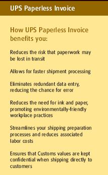 UPS Paperless Invoice