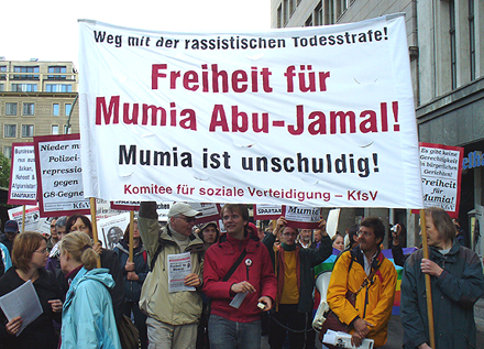 Demo Freiheit für Mumia Abu Jamal