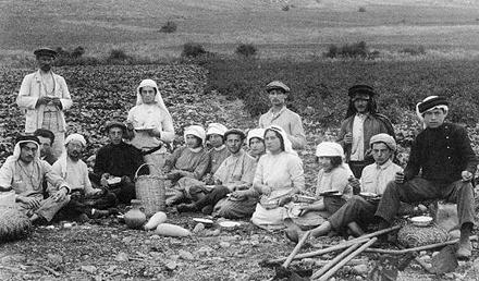 Erste Siedlungen in Palästina (Foto um 1870)