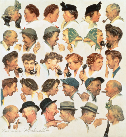 Image result for rockwell gossip picture
