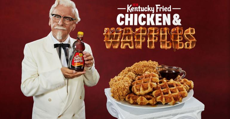 Kfc Wants To Raise The Bar With Chicken And Waffles Meal