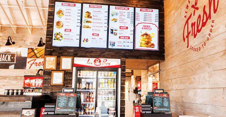 Digital menu boards help Slim Chickens, James Coney Island ...