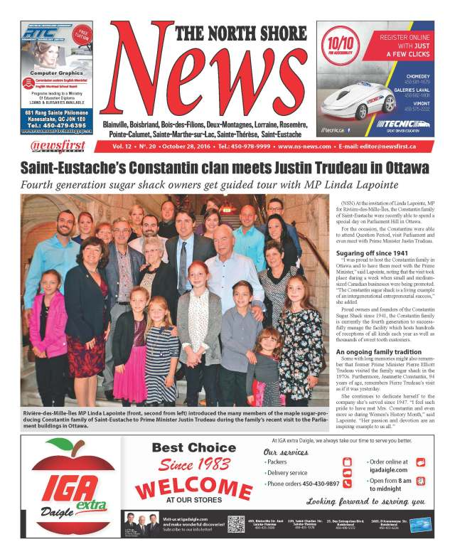 Front page image of the North Shore News Volume 12-20