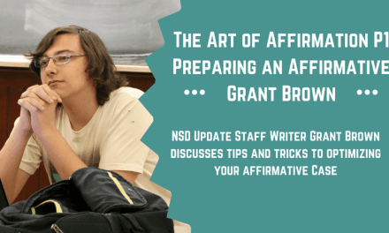The Art of Affirmation: Part 1- Preparing an Affirmative by Grant Brown