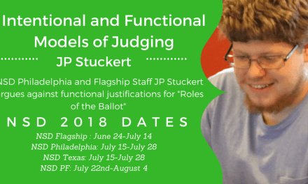 Intentional and Functional Models of Judging by JP Stuckert