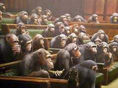 gorillas in a british parliamentary chamber