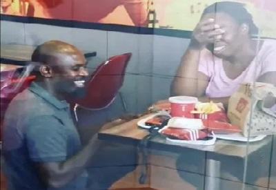 KFC Proposal couple getting engaged