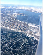 Ice cover on lakes around Madison, Wisc., and throughout the northern U.S. has formed later each winter.  Credit: Peter W. Schmitz, Madison, Wisconsin