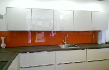 Orange Glass Slash Back