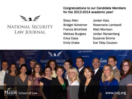 New NSLJ Candidate Members