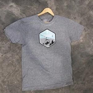 Gray Northern Standard snowboard t-shirt