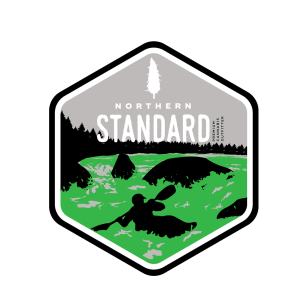 Illustrated Northern Standard kayaking sticker