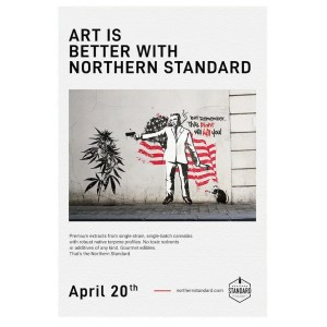 "Northern Standard vintage illustrated ""Banksy"" poster."