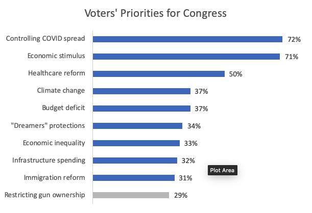 Voters Priorities for Congress