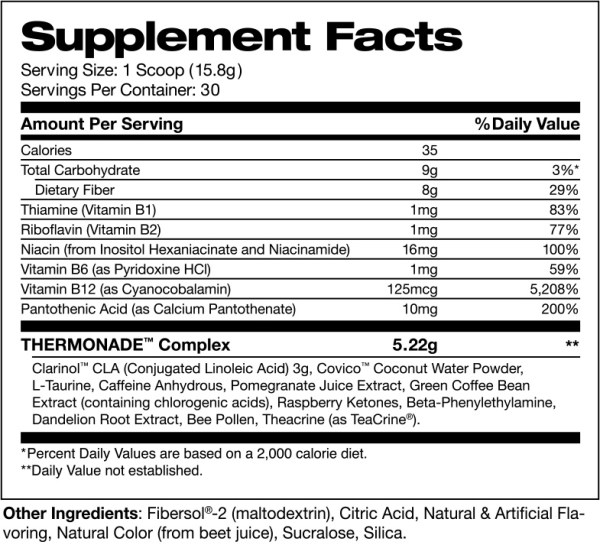 thermonade supplement facts