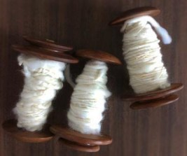 Guild learn to spin bobbins