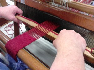 Dulkara narrow weaving for bag strap.