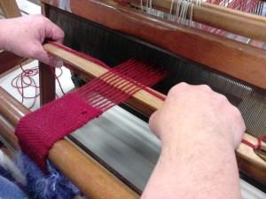 Dulkara narrow weaving for bag strap.