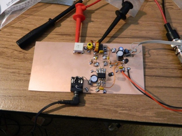 NE602/LM386 Prototype Receiver with SiT3808