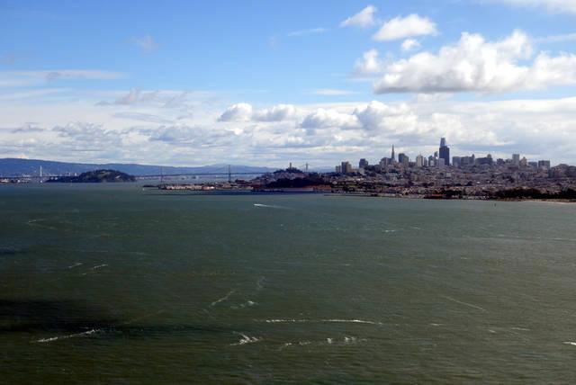 橋からサンフランシスコの風景