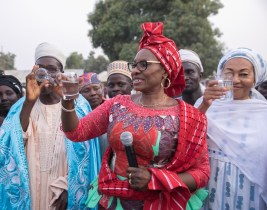 Image result for Aisha Buhari advises Nigerians on safe, clean drinking water