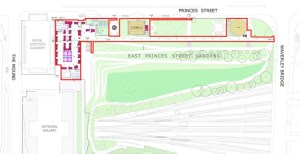 map of proposal for East Princes St gardens