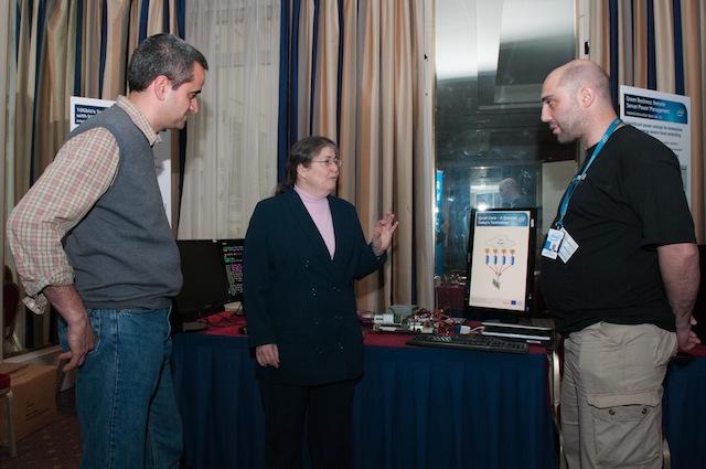 Intel Fellow Radia Perlman with Luca Deri and Joseph Gasparakis