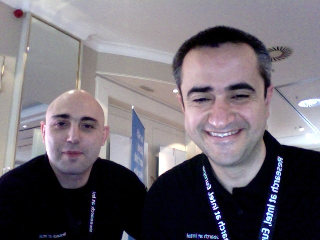 Luca Deri with Joseph Gasparakis, Senior Intel Engineer