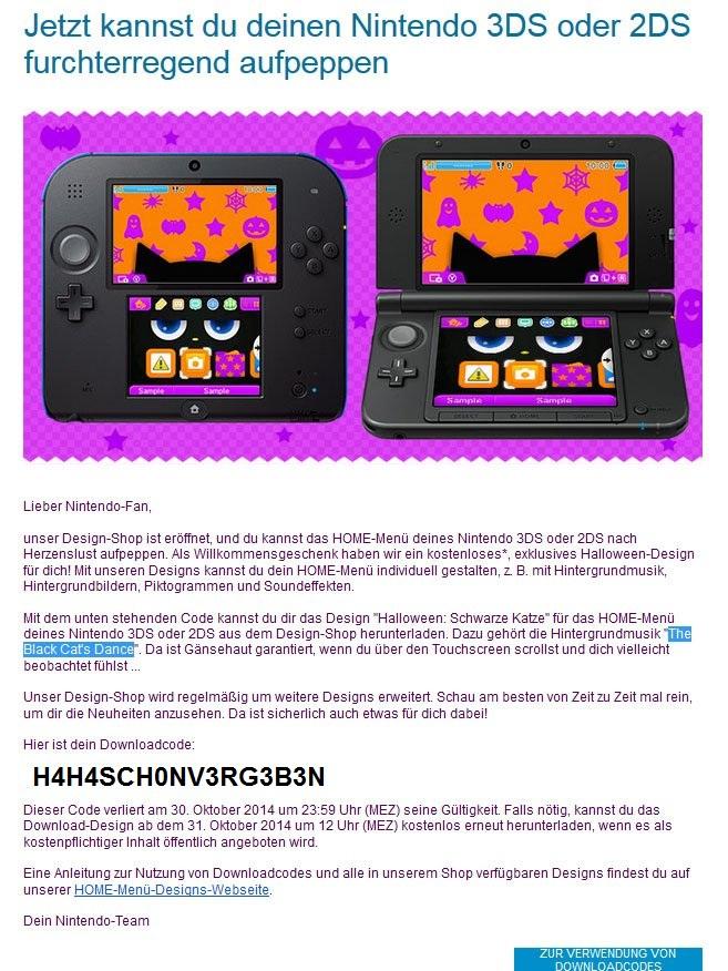 Nintendo Peppt Euren HOME Men Hintergrund Des Nintendo 3DS Und 2DS Furchterregend Auf Ntower