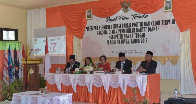 KPU Sumba Tengah Tetapkan 20 Anggota DPRD