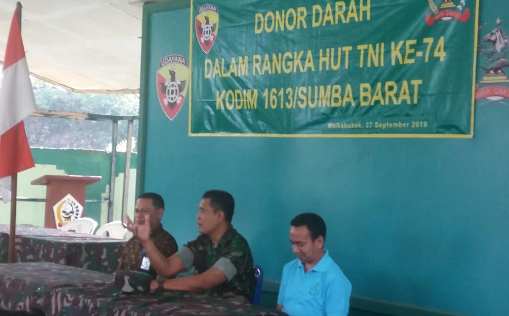 Jelang HUT TNI Ke-74, Kodim 1613 Sumba Barat Gelar Donor Darah