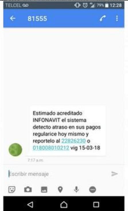 Fraude vía SMS