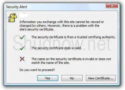 Outlook 2007 Certificate Error after installing SSL certificate ...