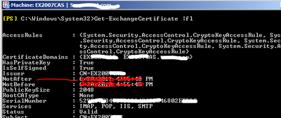 Question:How To Renew The Exchange Server 2007 Self Signed