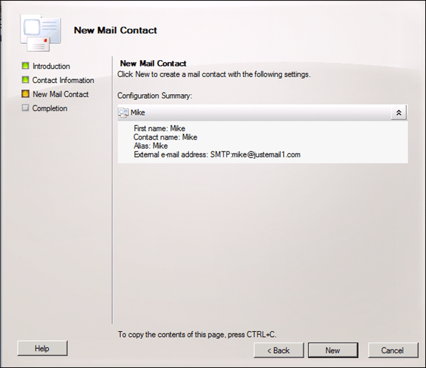 Question:How To Forward Emails To External Contact From Exchange Server 2010 (5/6)