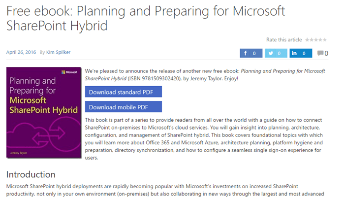 Free ebook from ms microsoft sharepoint hybrid windows server free ebook from ms microsoft sharepoint hybrid windows server infrastructure fandeluxe Epub