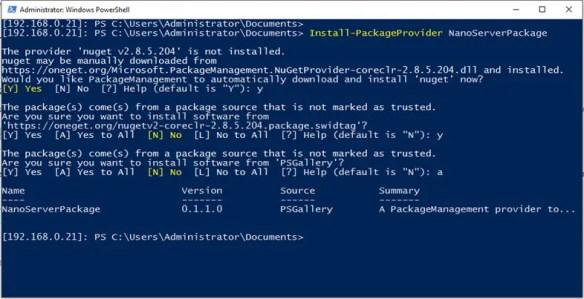Install IIS Server On Nano Server Using The New Online