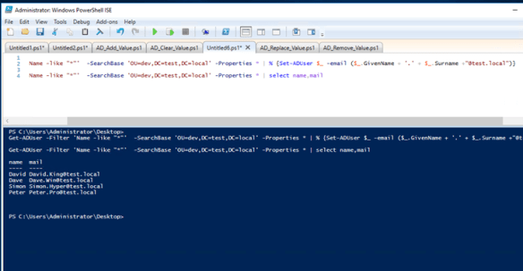 powershell get aduser email address