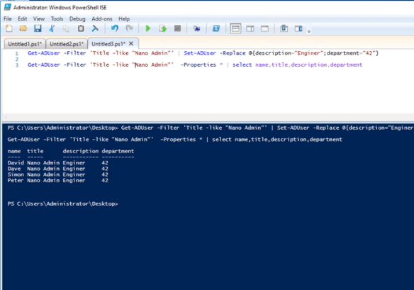 Change Multiple Active Directory Users Attributes Using