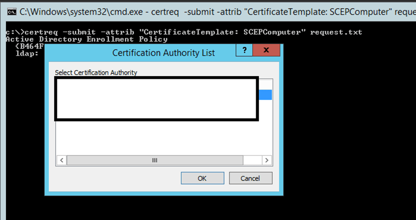 Ca error when requesting certificate from mmc using a r file ca error when requesting certificate from mmc using a r file windows server infrastructure yadclub Images